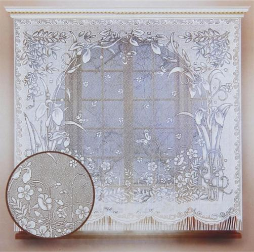 Штора кухонная 170х170 см, белый, без шторной ленты