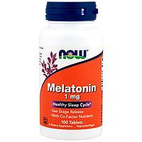 Now Foods, Мелатонин, 1 мг, 100 таблеток
