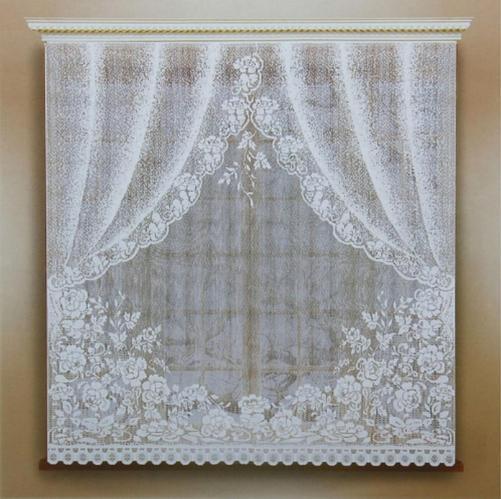 Штора без шторной ленты, 170х165 см, цвет белый