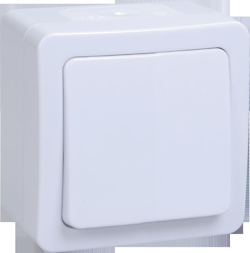 Выключатель ВСп 20-1-0-ГПБ однокл. о/у IP54 ГЕРМЕС PLUS (белый) ИЭК