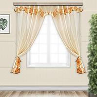 Комплект штор для кухни София с ламбрекеном 280х160 см