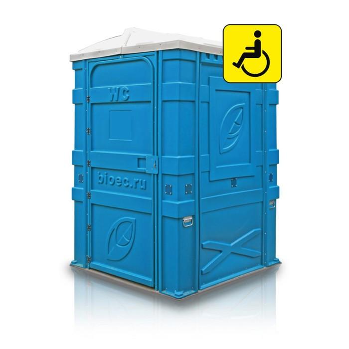 Туалетная кабина EcoLight Max, разобранная, голубая