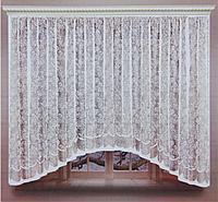 Штора со шторной лентой, 320х160 см, цвет белый