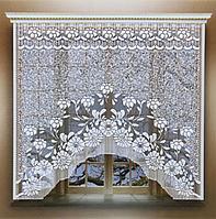 Штора без шторной ленты, 170х160 см, цвет белый