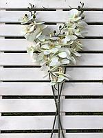 Искусственные цветы,орхидеи белые, силикон,высота 85 см