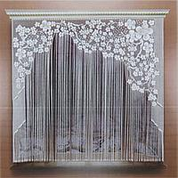 Штора без шторной ленты,165х200 см, цвет белый