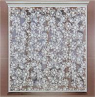 Штора 145х160 см, белый, шторная лента