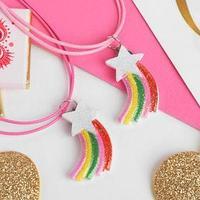 Кулон детский 'Выбражулька' звезда и радуга, цветной