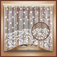 Штора тюль на шторной ленте 260х160 см, цв.белый