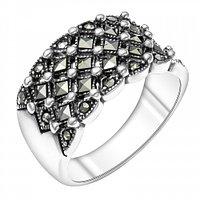 Серебряное кольцо 925 пробы с марказитом