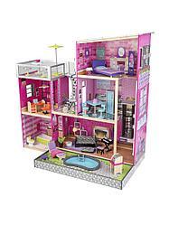Дом мечты Барби - Глянец, с мебелью 35 предметов и бассейном, KidKraft, 65833_KE