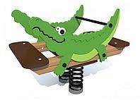 Качалка на пружине Крокодил