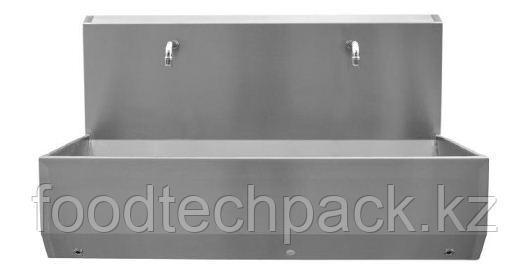 Двухпозиционная раковина для установки на полу, с коленчатым клапаном