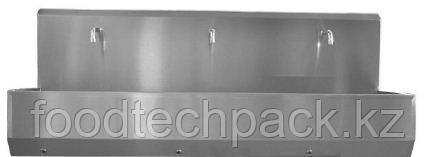 Трехпозиционная раковина для установки на полу, с коленчатым клапаном