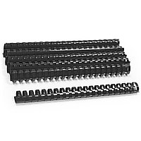 Пластиковые пружины овальные 22 ММ/210 (50 шт в пачке) черные