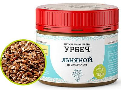 Диетический Урбеч Льняной, 100 гр