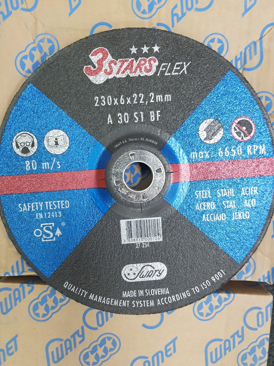 Круг шлифовальный 230 х 6 х 22,23 мм. 3STARS PROFESSIONAL
