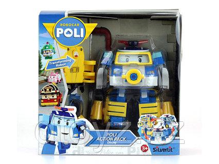 Машинка-трансформер POLI Поли 10см + костюм водолаза