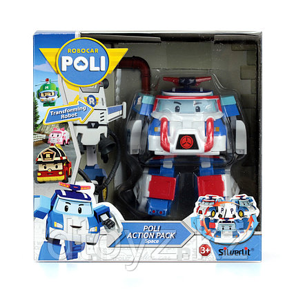 Машинка-трансформер POLI Поли 10см + костюм астронавта