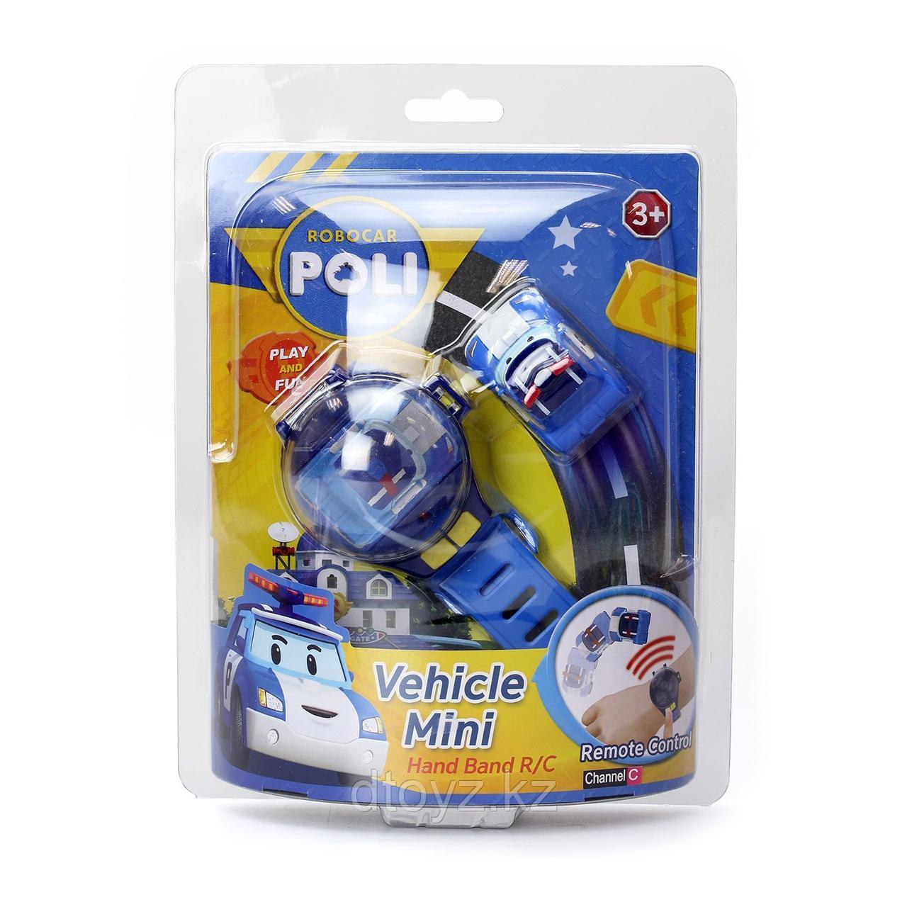 Машинка POLI Часы с мини машинкой на ДУ