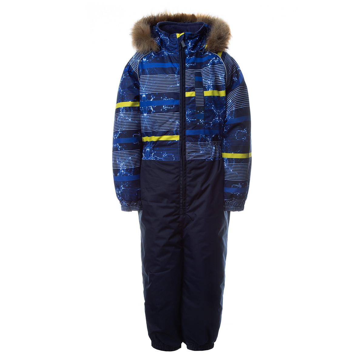 Детский комбинезон Huppa WILLY,  тёмно-синий с принтом/тёмно-синий - 128