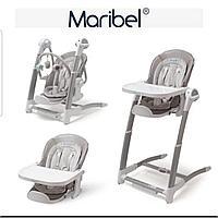 Стульчик для кормления 3 в 1 с электрокачелей Maribel SG116 серый