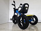 """Детский трехколесный велосипед """"Harley"""" с передней фарой и музыкой, фото 7"""