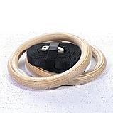 Кольца гимнастические профессиональные изготовлены из материала эбонит в комплекте с подвеской, фото 2