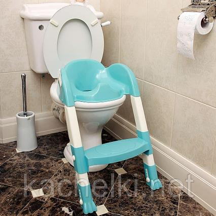 PITUSO Сиденье для унитаза с лесенкой Голубой BLUE