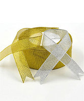 """Лента металлизированная """"Золото, серебро"""", 1 метр Серебро 2"""