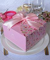 "Коробка ""Нежность"", 14 х 14 х 8 см, для маленького торта, выпечки, подарка"