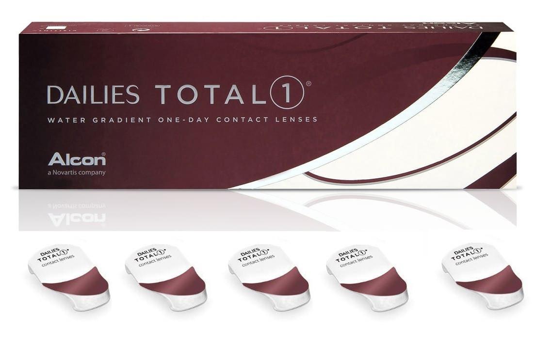 Однодневные контактные линзы DAILIES TOTAL -4,00