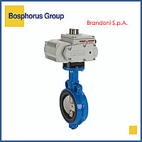 Затвор дисковый межфланцевый с эл/приводом, Ду125 Ру16 Brandoni (вода, +120)