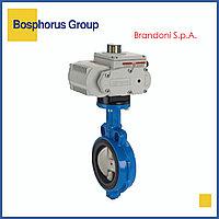 Затвор дисковый межфланцевый с эл/приводом, Ду200 Ру16 Brandoni (вода, +120)