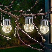 Садовый светильник на солнечной батарее, подвесной (SLR-WB-80) LAMPER ,   (602-232)
