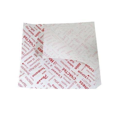 """Уголок д/гамбургеров 150x170 мм белый с рис.""""ФИЕСТА"""" жиростойкий пергамент, 2000 шт, фото 2"""