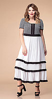Платье Romanovich-1-1818, черно-белый, 50