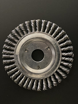 Щётка дисковая D 125 x 6 x 22,2 mm. Weiler Жгутоваястальная проволока 0,5mm