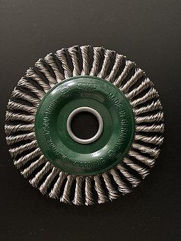 Щётка дисковая D 125 x 12 x 22,2 mm. OSBORN Жгутовая нержавеющая проволока 0,5mm