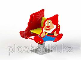 Качеля пружина детская, с изображением гнома