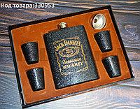 Мужской набор (фляга, 4 рюмки, воронка) Jack Daniels DJH1256