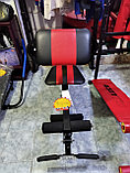Лежак скамья под штангу с дополнительными функциями, фото 4
