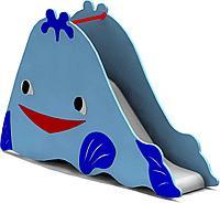 Горка детская, маленькая, в виде кита