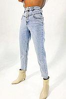 Укороченные светлые джинсы из 100% хлопка с широкой кокеткой TOPTOP STUDIO