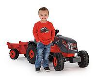 Детский педальный трактор Smoby XXL с прицепом 710200 красный