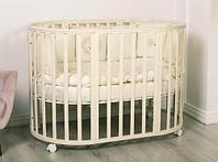 """Кроватка - трансформер Incanto """"Amelia"""", (слоновая кость), 8-в-1, овальная"""
