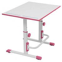 Растущая парта-трансформер Polini kids Simple М1, 75х55 см, белый-розовый
