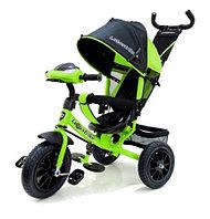 Велосипед 3 колесный – Lexus trike, цвет зеленый, надувные колеса 12 и 10 дюйм, светомузыкальная панель, фото 1