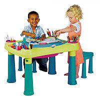 Столик KETER для детского творчества + 2 стульчика