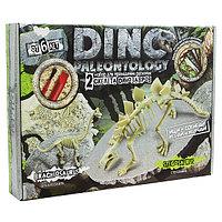 """Набор для проведения раскопок """"DINO PALEONTOLOGY Скелеты Стегозавра-Брахиозавра  (5)"""
